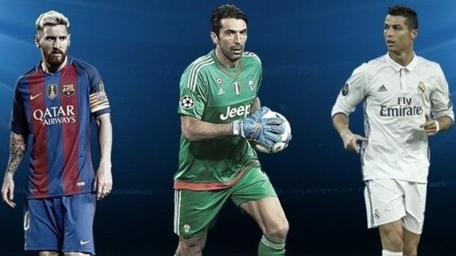 Kuldne kolmik - Lionel Messi, Gianluigi Buffon, Cristiano Ronaldo