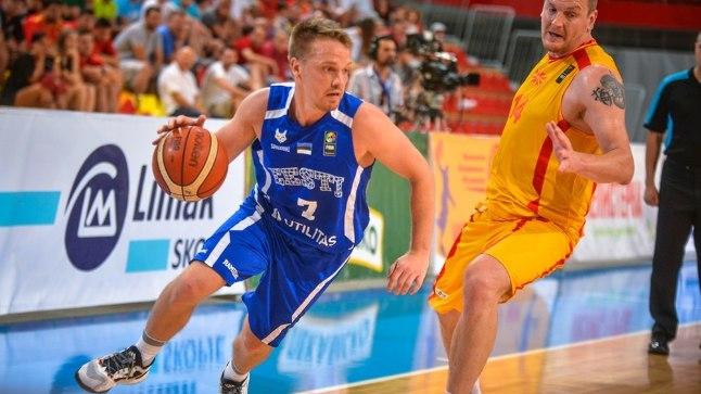 Sten-Timmu Sokk Skopjes peetud mängus Makedooniaga.