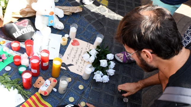 Leinaja Barcelonas La Rambla tänaval