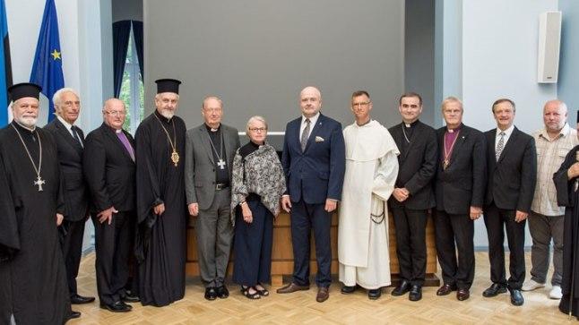 Siseminister Andres Anvelt arutas Euroopa kirikujuhtidega radikaliseerumise üle.