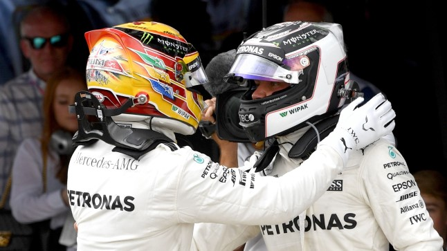 Lewis Hamilton (vasakul) ja Valtteri Bottas.