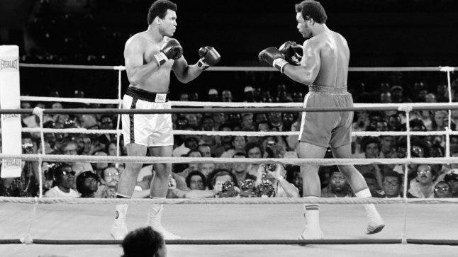 Muhammad Ali (vasakul) ringis George Foremani vastu.