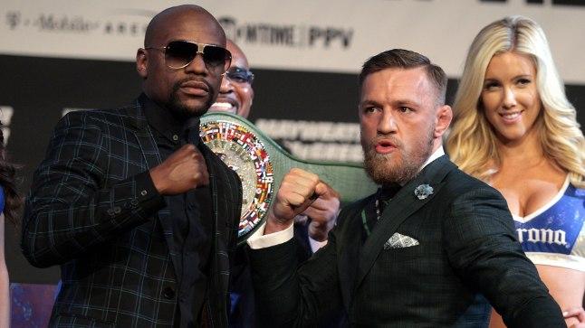 KES SAAB TAPPA? Floyd Mayweather juunior (vasakul) või Conor McGregor?