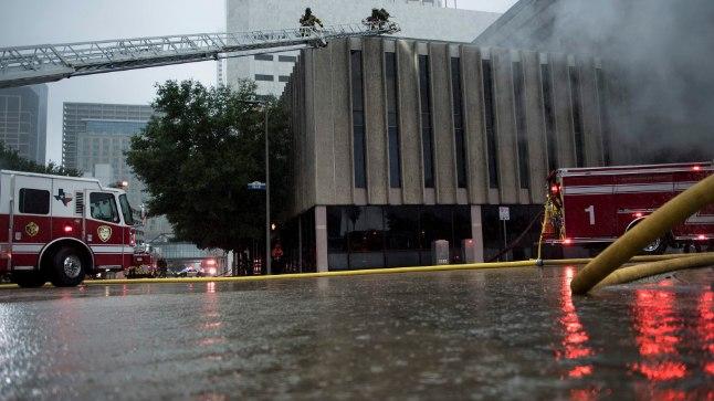 Tulekahju Houstoni kesklinnas