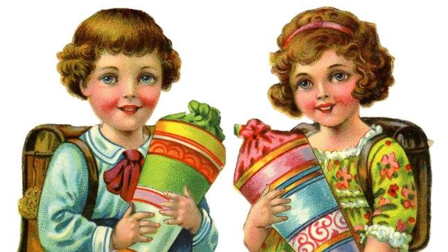 Kui vaid lapsed teaksid, mis neid ees ootab, küll nad rõõmustaksid. Koolialguse postkaart aastast 1927.