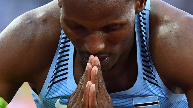 VALUS. Londonisse kahe individuaalse medali järele sõitnud Isaac Makwala palveid seekord kuulda ei võetud.