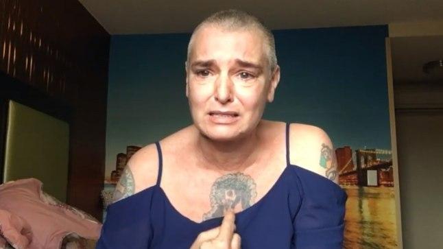 Sinéad O'Connor rääkis eile Facebooki postitatud videos, kui raske tal depressiooniga toime on tulla.