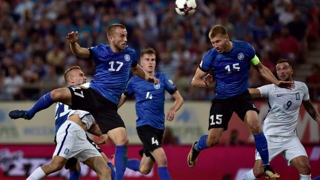 Enar Jääger (17) mängus Kreeka vastu.