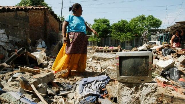 Последствия землятресения в Мексике 8 сентября