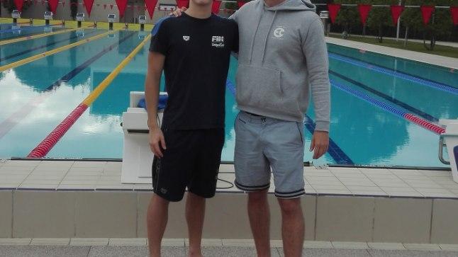 <p>Kregor Zirk ja treener James Gibson.</p>
