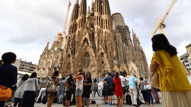 Sagrada Familia kirik Barcelonas. 20. augustil mälestati seal Barcelona ja Cambrilsi terrorirünnakute ohvreid.