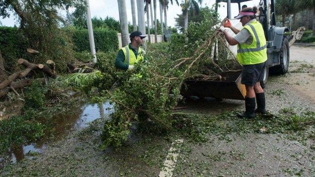 Orkaanikahjude likvideerimine Floridas.