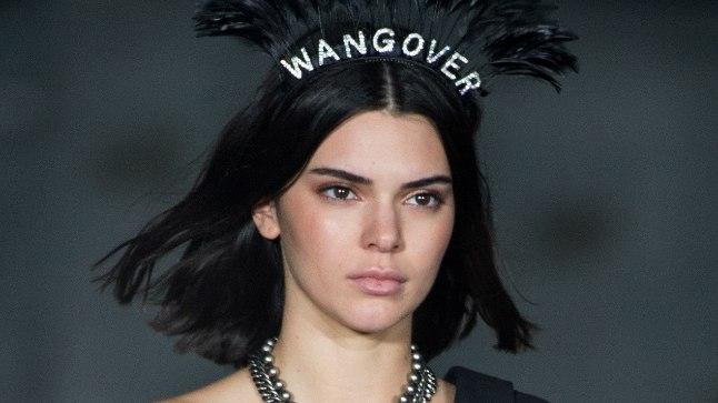 Kendall Jenner 9. septembril New Yorgi moenädalal Alexander Wangi šõul.
