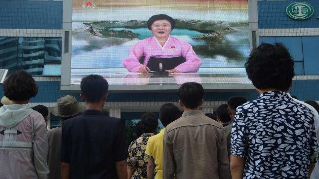 Põhja-korealased uudiseid jälgimas