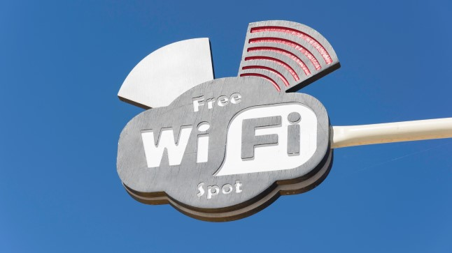 Точка бесплатного wifi в Греции