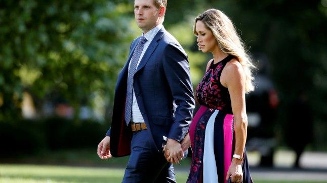 Eric Trump koos abikaasa Laraga.