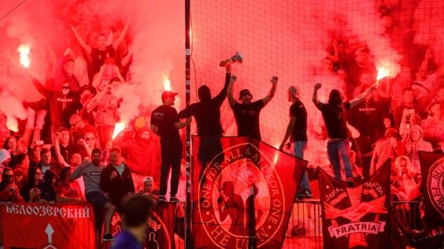 Moskva Spartaki fännid Mariboris.