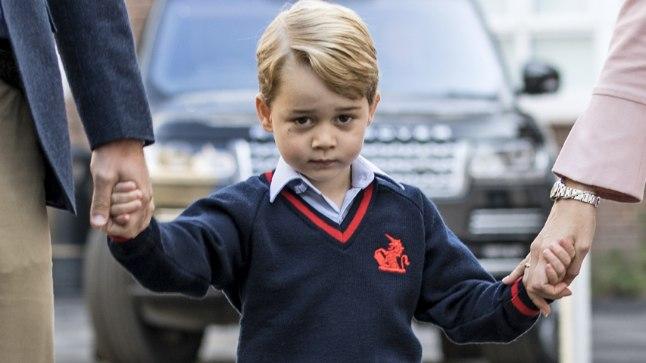 Prints George oma esimesel koolipäeval 7. septembril.