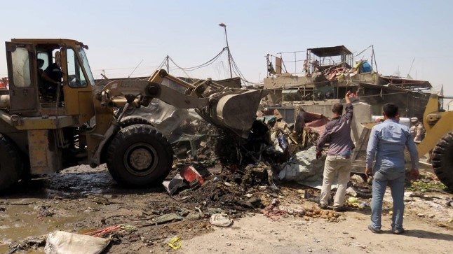 Foto on autopommiplahvatusest Bagdadis 28. augustil 2017.
