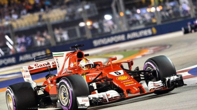 Sebastian Vettel Singapuri GP kvalifikatsioonis.
