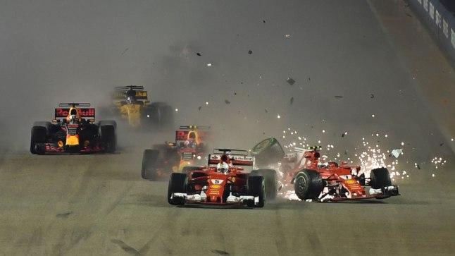 F1 Singapuri etapi start.