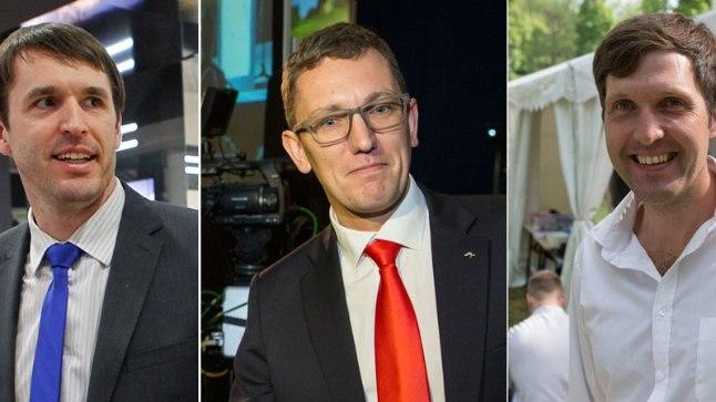 Vasakult: Rainer Vakra, Kristen Michal, Martin Helme.