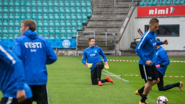 Eesti jalgpallikoondise treening päev enne MM-valikmängu Küprosega