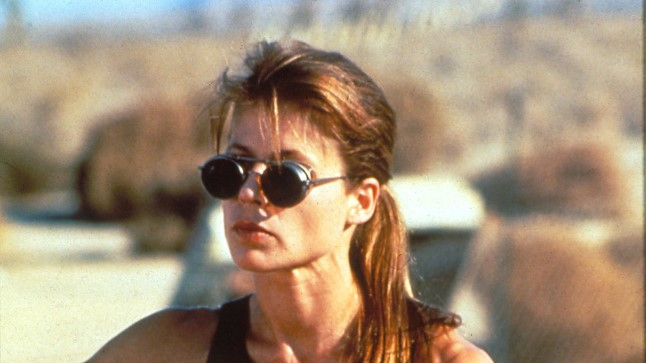 """Linda Hamilton 1991. aasta filmis """"Terminaator 2: Kohtupäev"""""""