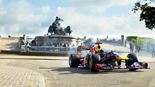 David Coulthard Red Bulli vormeliga Kopenhaagenis.