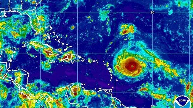 Satelliitfoto: Irma läheneb Kariibi mere saartele