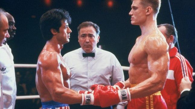 """Stallone ja Lundgren 1985. aasta filmis """"Rocky IV"""""""