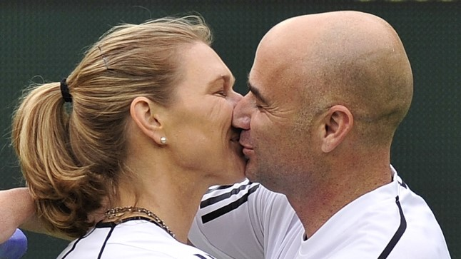 Steffi Graf ja Andre Agassi.
