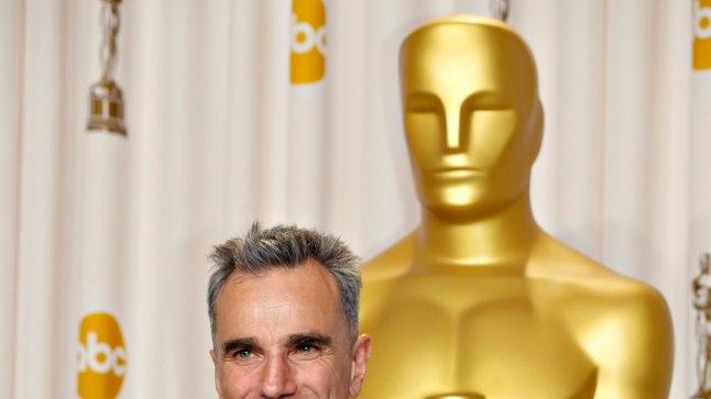 """Daniel Day-Lewis 2013. aastal, mil ta pälvis nimirolliga """"Lincolnis"""" karjääri kolmanda Oscari."""