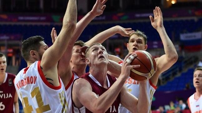 Täna on Korvpalli EMil võistlustules nii lätlased kui ka venelased!
