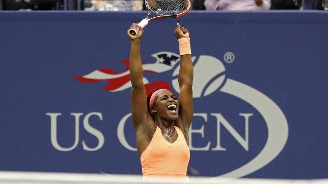 Siiras rõõm: Sloane Stephens pärast võidukat poolfinaali.