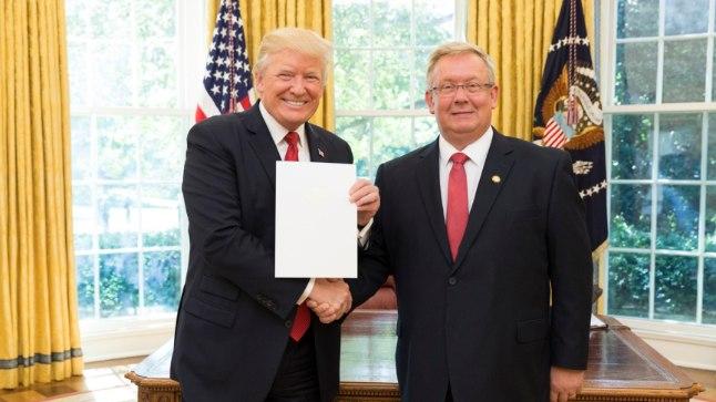 Дональд Трамп и Лаури Лепик
