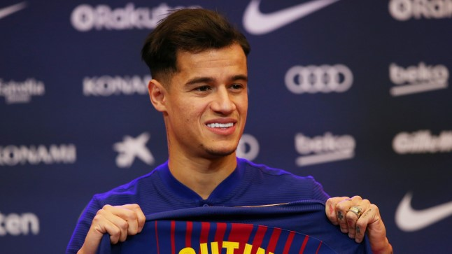 Coutinho Barcelona särgiga.
