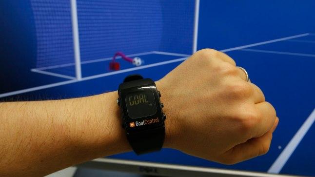 Tehnoloogiaga GoalControl kaasas käiv kell.