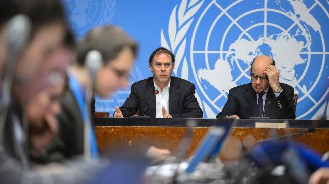 ÜRO kõneisik Rupert Colville (fotol vasemal)
