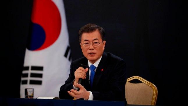 Lõuna-Korea president Moon Jae-in.