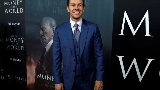 Mark Wahlberg filmi esilinastusel.