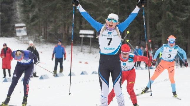 Anette Veerpalu tuli Eesti meistriks.