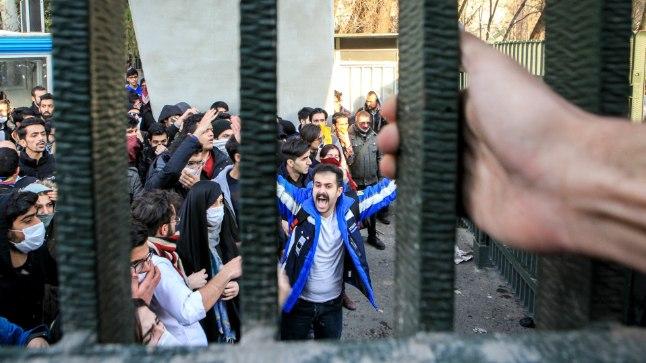 PROTEST MULLADE VASTU: Meeleavaldus Iraani pealinnas Teheranis.
