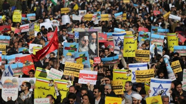 Protest Iraanis Teheranis, pilt on illustratiivne