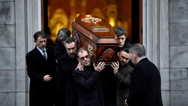 Dolores O'Riordani matuseteenistus peeti 21. jaanuaril tema kodulinnas Limerickis St Josephi kirikus.