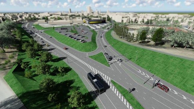 3D vaade kõnealuse piirkonna tulevasest väljanägemisest: Laagna tee ja Gonsiori tänava ühendus