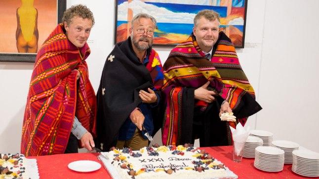 XXXI Pärnu Filmifestivali võitjad: Knutte Wester, Mark Aitken ja Eltjo Witkop. Viimane esindab võitjat filmirezissööri Jan Louterit.
