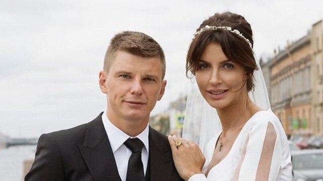 Andrei Aršavin koos abikaasa Alissaga.