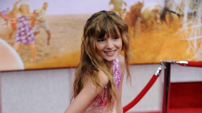 """Bella Thorne 2009. aastal """"Hannah Montana"""" filmi esilinastusel."""