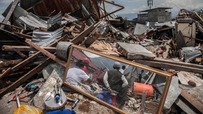 Maavärinast ja tsunamist laastatud Palu.